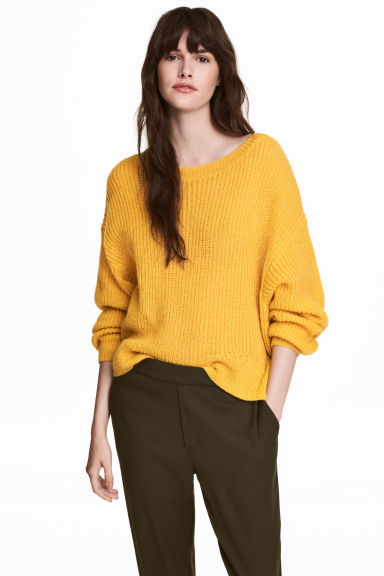 Loose-knit jumper - Yellow - Ladies | H&M CN
