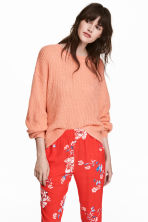 Loose-knit jumper - Peach - Ladies | H&M 1