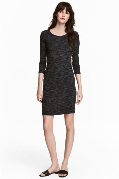 Jersey dress - Black marl - Ladies | H&M CA 1