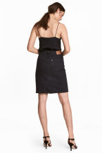 Knee-length denim skirt - Black - Ladies | H&M GB 1