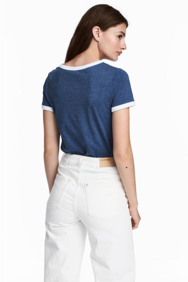 Short T-shirt - Dark blue - Ladies | H&M IE