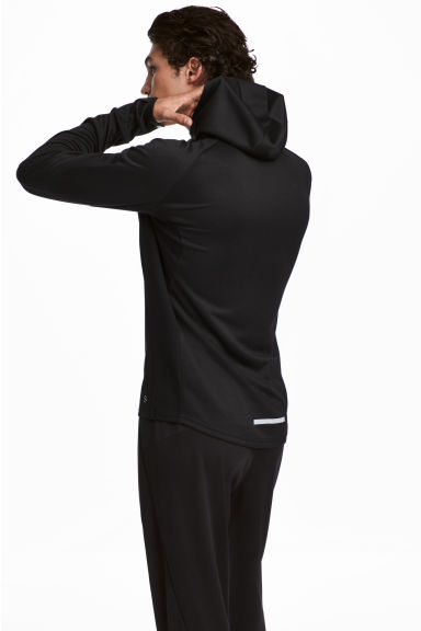 Hooded running jacket - Black - Men | H&M GB 1