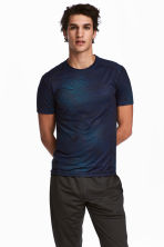 Short-sleeved sports top - Blue - Men | H&M CA 1