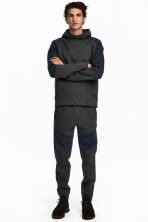 Sports trousers - Dark grey marl/Dark blue - Men | H&M CN 1
