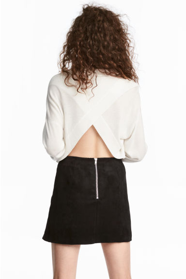 Jumper with wrapover back - White - Ladies | H&M 1