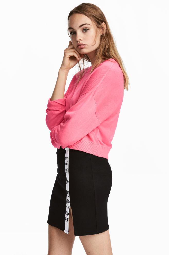 Jersey corto - Rosa neón - MUJER   H&M ES