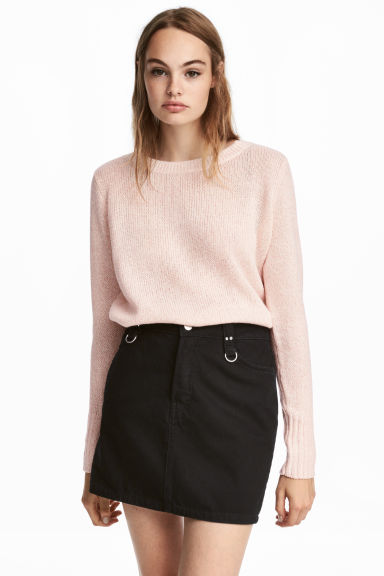 Knitted jumper - Powder pink - Ladies | H&M CN 1