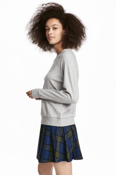 Pleated Skirt - Blue/green plaid - Ladies | H&M IE 1