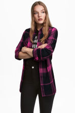 Flannel shirt - Cerise/Checked - Ladies | H&M CN 1