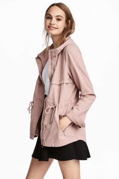 Short hooded parka - Antique rose - Ladies | H&M IE