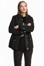 Short hooded parka - Black - Ladies | H&M 1