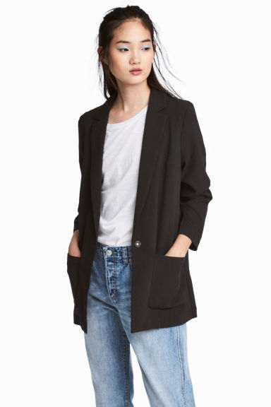 Crêpe jacket - Black - Ladies | H&M 1