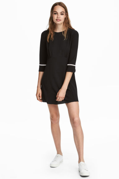 Crêpe dress - Black - Ladies | H&M 1