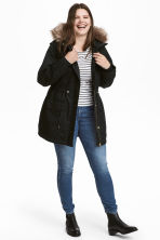 H&M+ Cotton parka - Black - Ladies | H&M CN 1