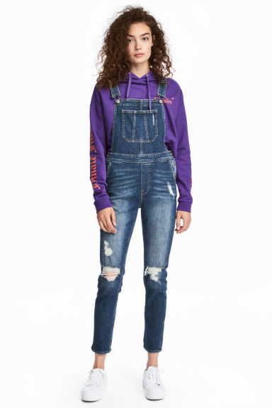 Denim dungarees Model