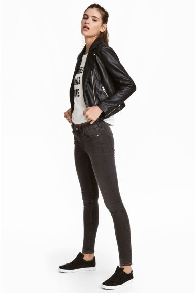 Petite fit Skinny Jeans - Dark grey denim - Ladies | H&M CN