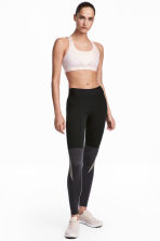 Collant training color block - Noir/gris foncé - FEMME | H&M FR 1