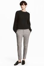 Suit trousers - Grey/Herringbone-patterned - Ladies | H&M 1