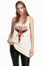 Vest top - Natural white/Nirvana - Ladies | H&M CN 1