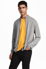 Zipped cardigan - Grey marl - Men | H&M CN 1
