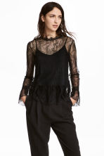 Lace top - Black - Ladies | H&M IE 1