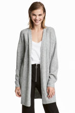 Knitted wool-blend cardigan - Light grey -  | H&M CN 1