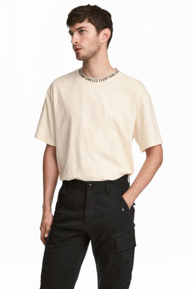 Wide T-shirt - Natural white -  | H&M