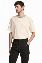 Wide T-shirt - Natural white - Men | H&M 1