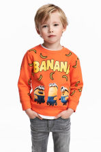 Printed sweatshirt - Orange/Minions -  | H&M CN 1