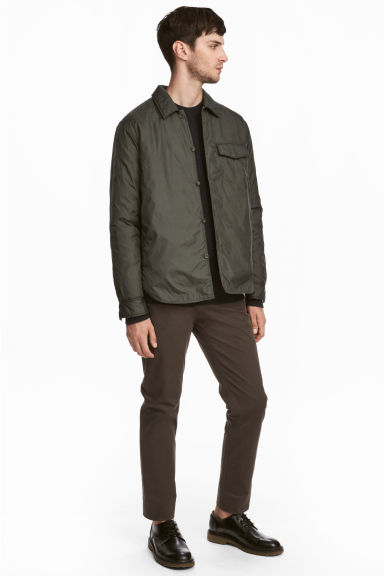 Cotton twill chinos - Dark brown - Men | H&M 1