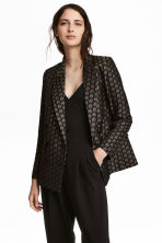 Jacquard-weave jacket - Black - Ladies | H&M CN 1