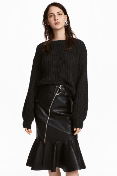 Loose-knit jumper - Black - Ladies | H&M