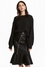Loose-knit Sweater - Black - Ladies | H&M CA 1