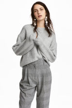 Ribbed jumper - Grey - Ladies | H&M CN 1