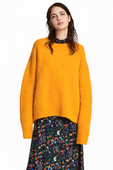 Wool-blend jumper - Yellow - Ladies | H&M CN
