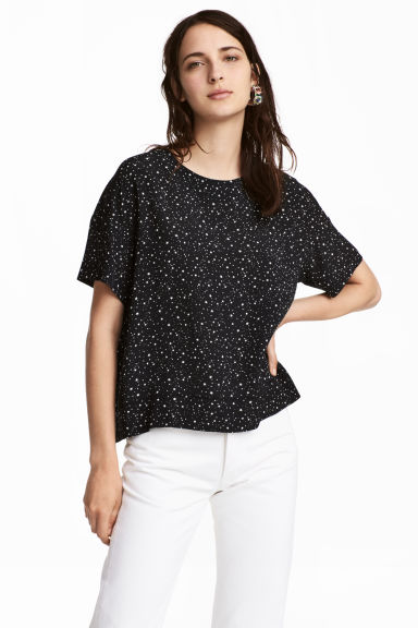 Crêped Top - Black - Ladies | H&M CA 1