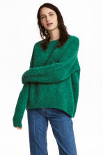 Wool-blend jumper - Green - Ladies | H&M GB 1