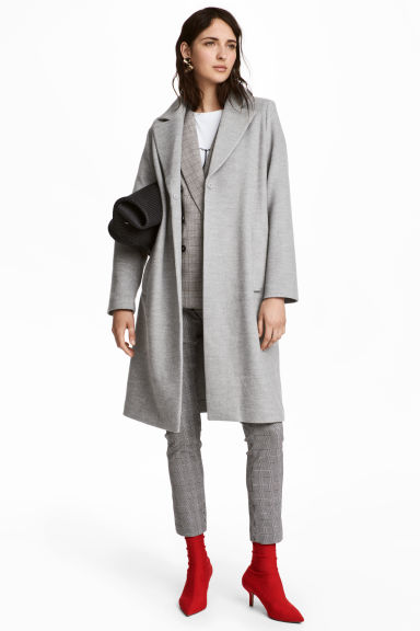 Felted coat - Light gray - Ladies | H&M 1