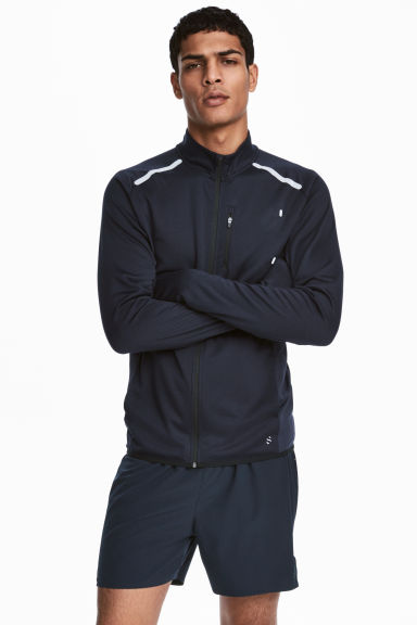 Running jacket - Dark blue - Men | H&M CA