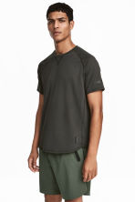 Short-sleeved sports top - Black - Men | H&M CA 1