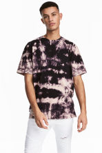 Batik-patterned T-shirt - Dark purple/Batik - Men | H&M 1
