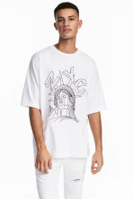 T-shirt with a print motif - White/NYC - Men | H&M CN 1