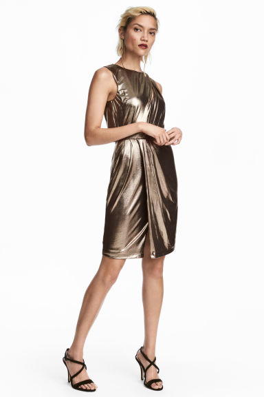 Shimmering Metallic Dress - Metallic - Ladies | H&M CA
