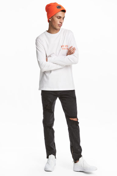 Relaxed Skinny Jeans - Grey/Trashed - Men | H&M 1