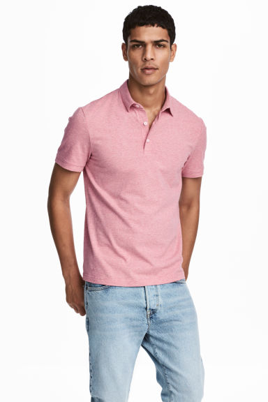 Polo de tennis Slim Fit - Rose chiné -  | H&M FR