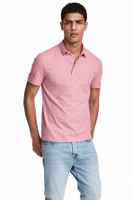 Polo shirt Slim Fit - Pink marl - Men | H&M CN 1