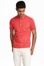 Polo shirt Slim Fit - Red marl - Men | H&M CN 1