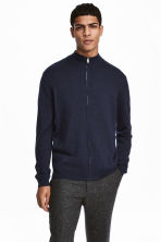 Zipped cardigan - Dark blue - Men | H&M 1