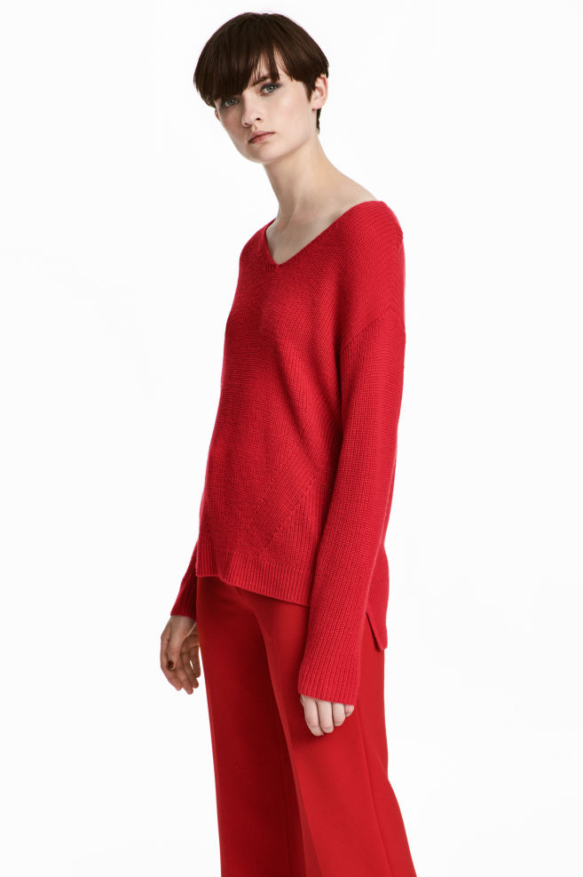 Double-knit Sweater - Red - Ladies | H&M CA 1
