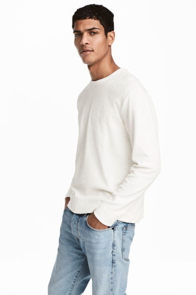 Sweat-shirt - Blanc - HOMME | H&M BE